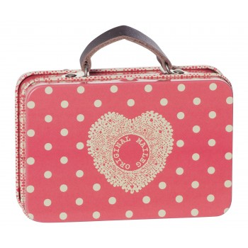 Metal melon dots suitcase