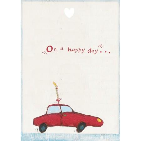 Car postcard