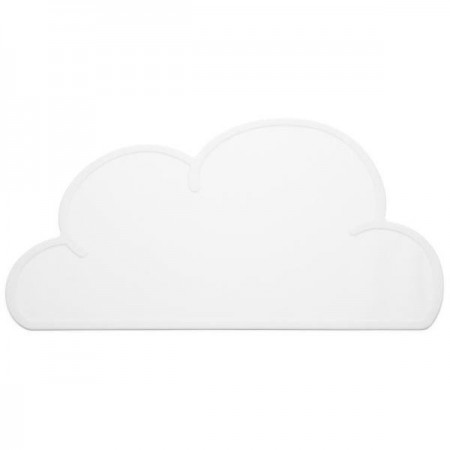 Cloud light white placemat
