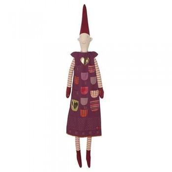 Advent calendar pixy elf girl purple (XL)