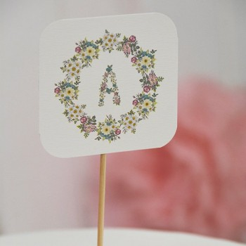 Topcake initial flowers