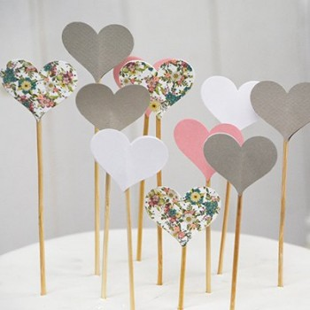 Topcake corazones (pack 10 u.)