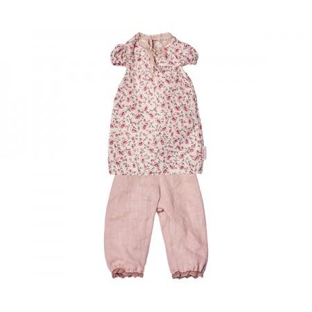 Pijama camisola y pantalón  Rosa  (Medium)
