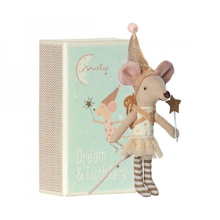 Muñeco Ratoncita Hada en caja (dorada)