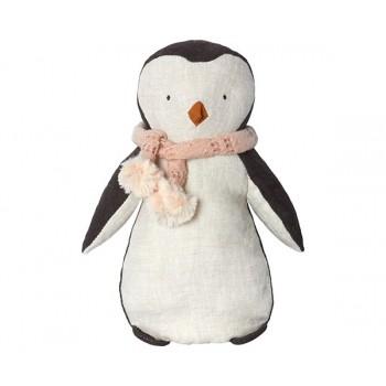 Peluche pingüino bufanda rosa..