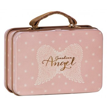 Metal suitcase angel wings