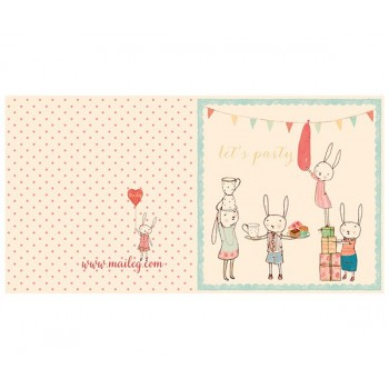 Rabbits party card