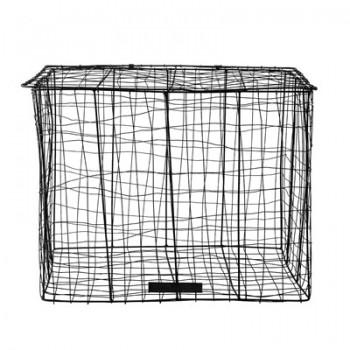 Cestos de alambre negro (set 2u)
