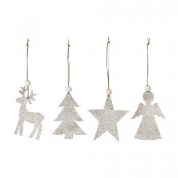 Figuras decoración Navidad (4u.)