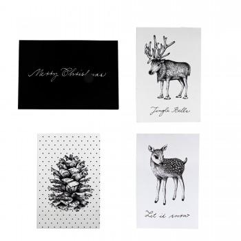 Tarjeta Navidad, Set 4 und.