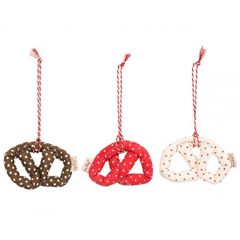 Pretzel galleta decoración tela roja (medium)