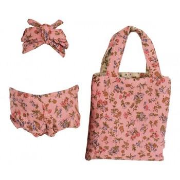 Bikini estampado flores con bolsa (Mega)