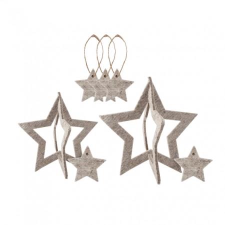 Estrellas decorativas. Pack 8u.