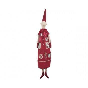 Duende chica calendario de Adviento vestido rojo (XL)
