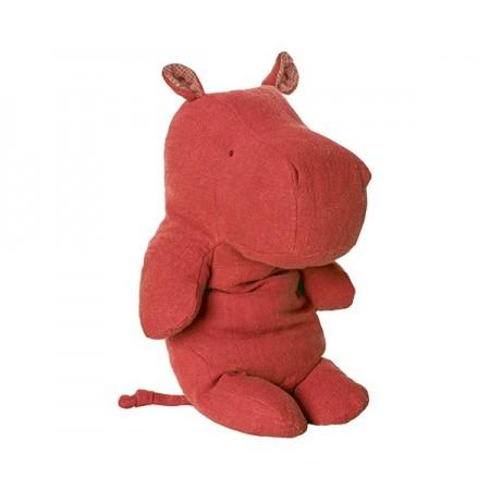 Peluche, hipopótamo mediano, Rojo