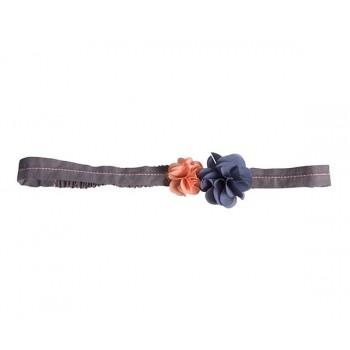 Hair band, fluff flowers, pink-blue
