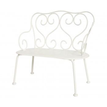 Romantic Metal Bench ( Mini), off white