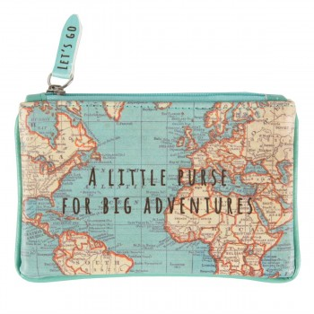 Little purse vintage map
