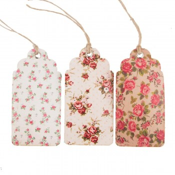 Etiquetas flores vintage (set 15u.)