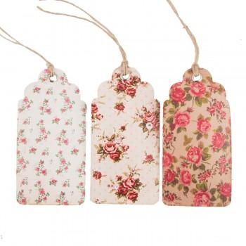 Vintage rose tags (set 15u.)