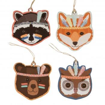 Gift tag animal adventure (set 12u.)