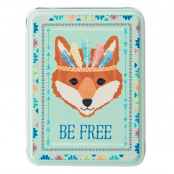 Caja de metal zorro Be Free