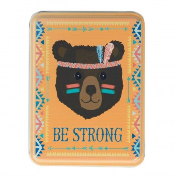 Storage tin bear Be Strong