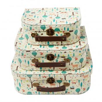 Suitcase woodland (set 3u.)