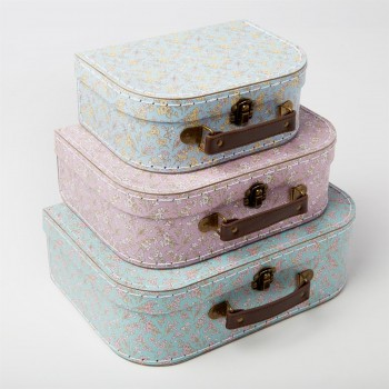 Suitcase flowers (set 3u.)
