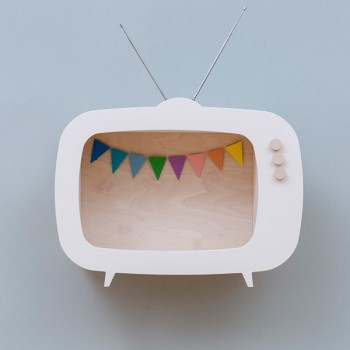 TV shelf display white (Big)