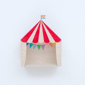 Circus shelf display red (Big)