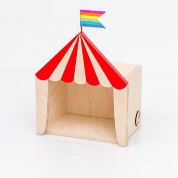 Circus shelf display red (Mini)