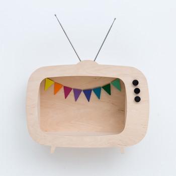TV shelf display natural (Big)