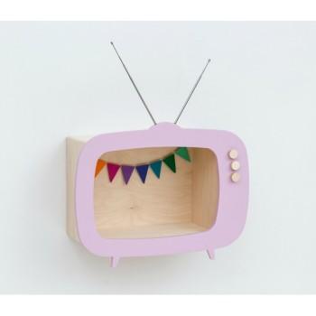 TV shelf display light pink (Big)