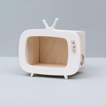 TV shelf display white (Mini)