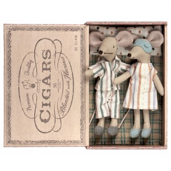 Mice mum and dad in cigarbox