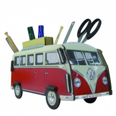 Pencil Holder VW Bus red
