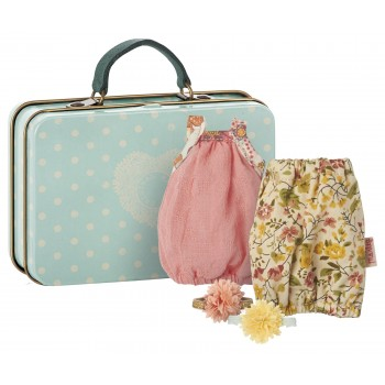 Suitcase with 2 dresses for girls (Micro)