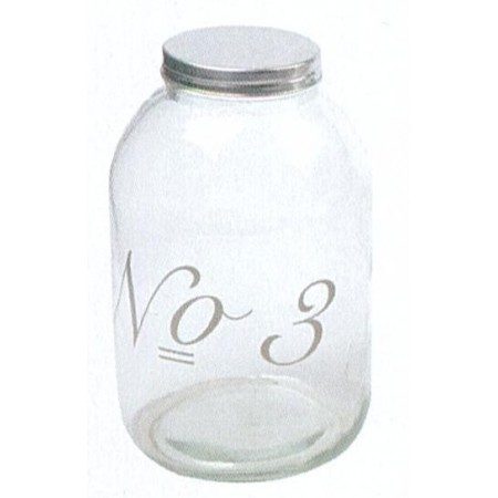 Glass jar with tap