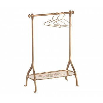 Clothes rack gold with 3 hangers