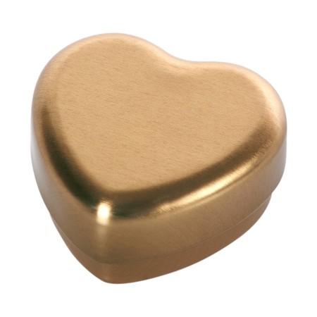 Caja corazón dorada.