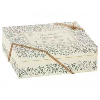 Caja de cartón decoración