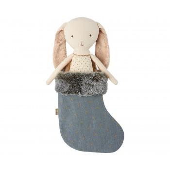Conejito Bunny Ángel con calcetín azul