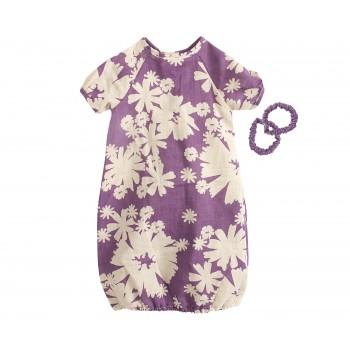 Vestido púrpura con coleteros (Mega)
