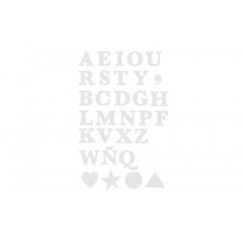 Vinyl, ABC TYPE white