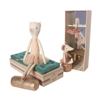 Bailarinas Gatita y Ratón en caja de zapatillas de ballet