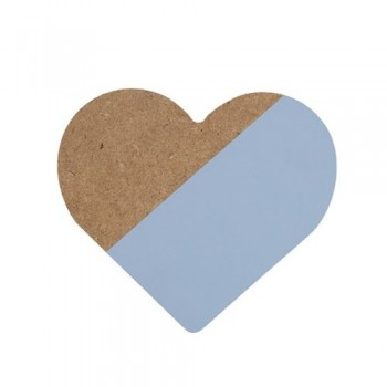 Corazón azul de madera.