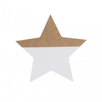 White wooden star
