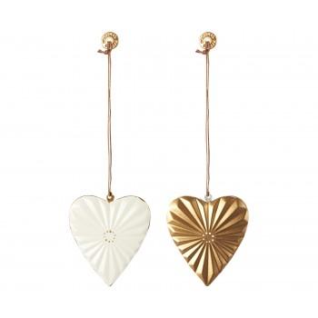 Metal heart ornament