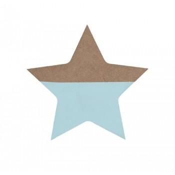 Estrella menta, de madera.